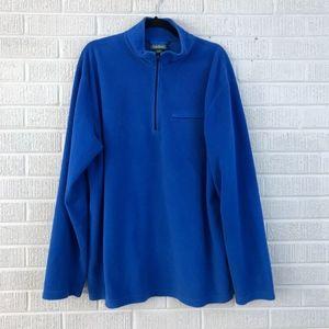 L.L. Bean Mens XL Tall 1/4 Zip Pullover Fleece Top